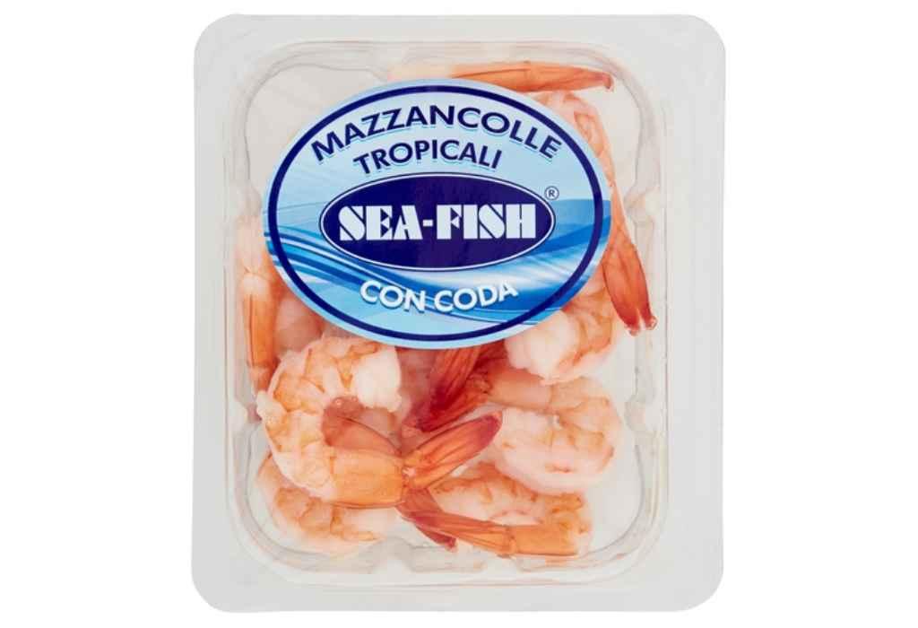 Richiamate Mazzancolle tropicali Sea Fish per Listeria Monocytogenes