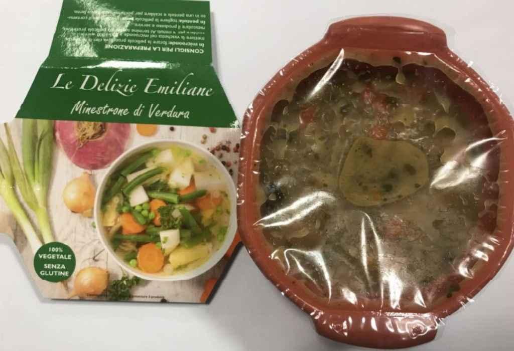 Richiamato Minestrone di verdure Le Delizie Emiliane per non conformità microbiologica