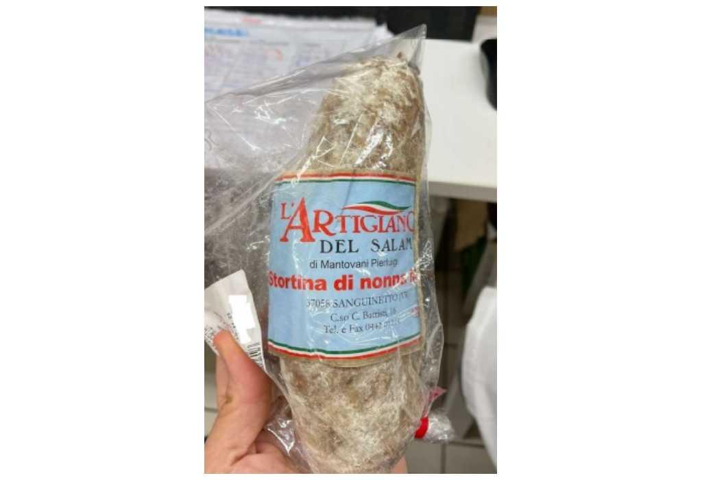 Richiamato il salame Stortina di Nonna Maria per Listeria monocitogenes