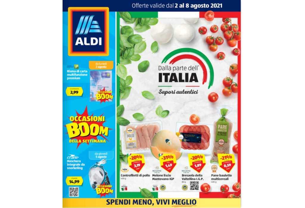 Volantino Aldi dal 2 al 8 agosto 2021: Sapori d'Italia