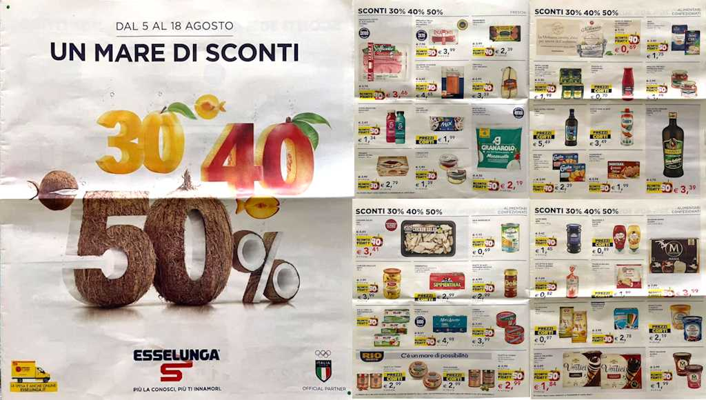 Volantino Esselunga dal 5 al 18 agosto 2021: offerte