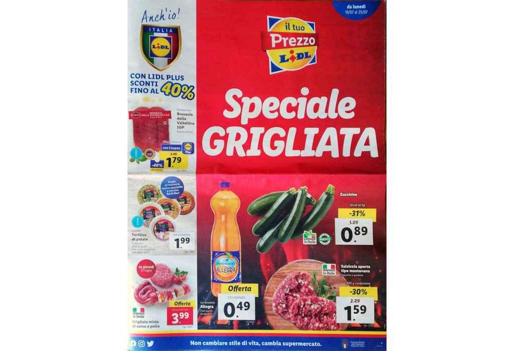 Volantino Lidl prossima settimana dal 19 al 25 luglio 2021: Speciale Grigliata e Settimana Spagnola