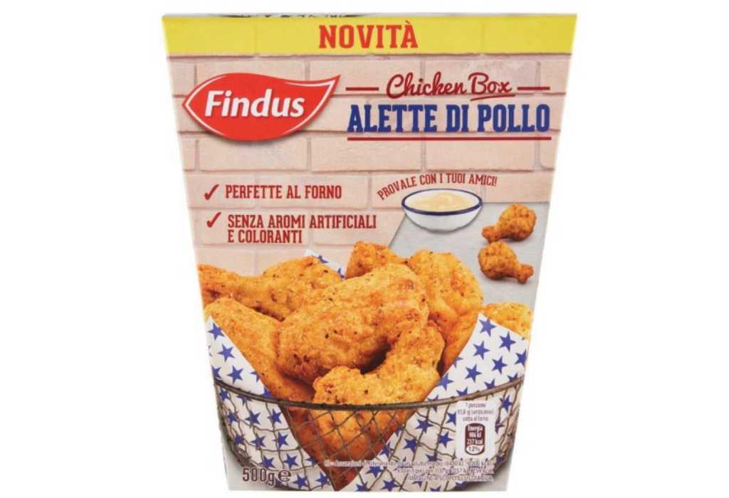 Findus richiama le alette di pollo Chicken Box per allergene non dichiarato in etichetta