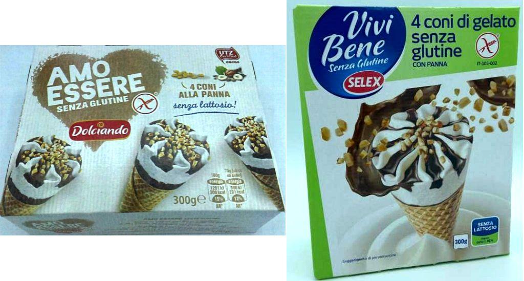 Richiamati coni gelato senza glutine e lattosio per presenza di lattosio