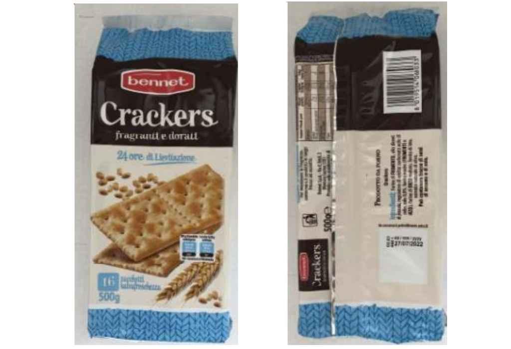 Crackers Bennet Richiamati