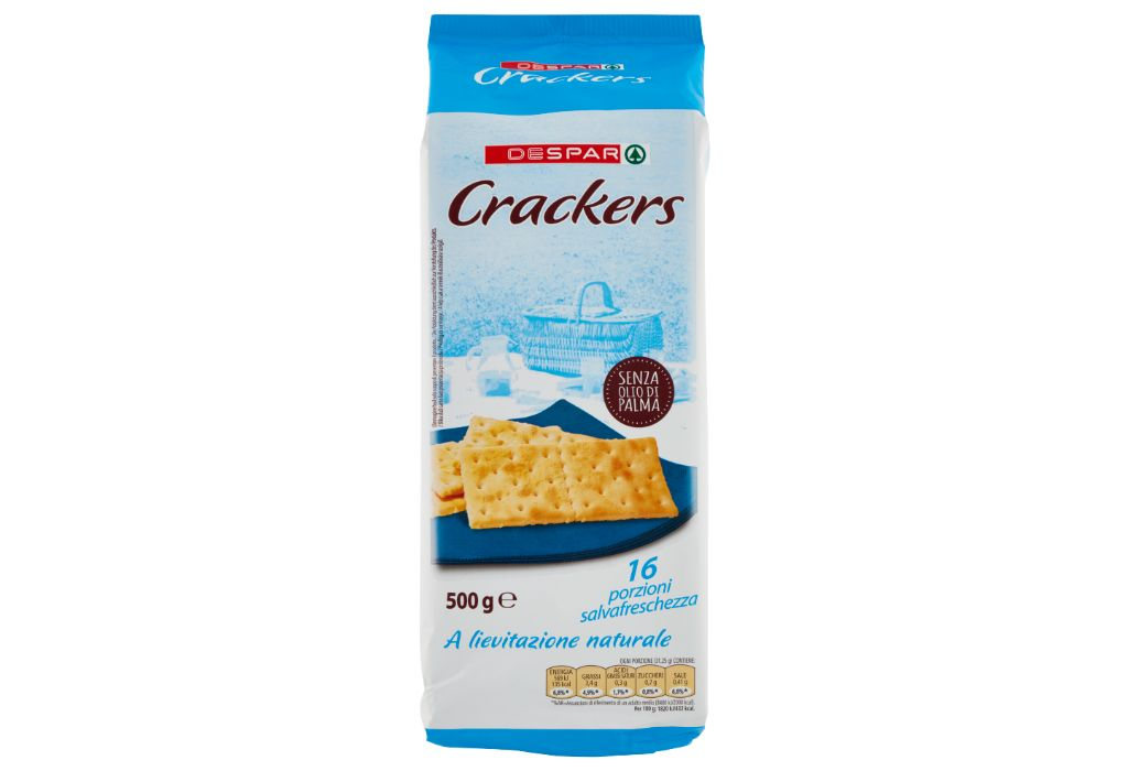 Richiamati cracker salati senza granelli di sale in superficie Despar
