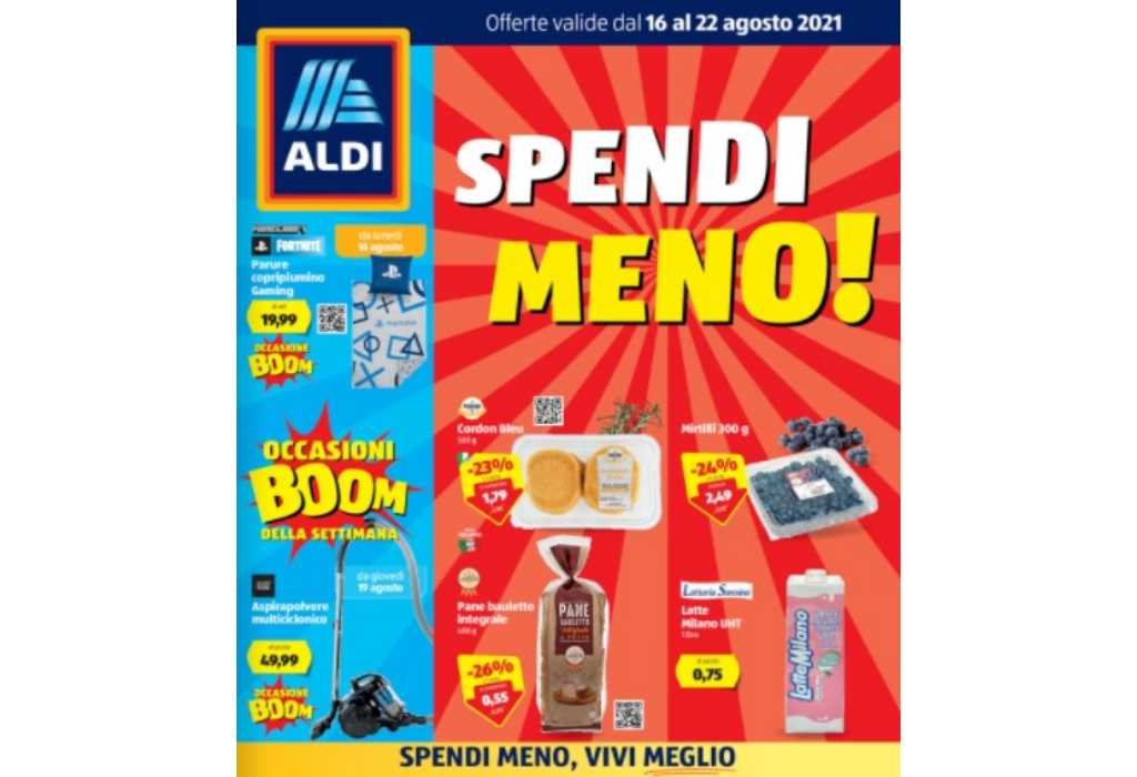 Volantino Aldi dal 16 al 22 agosto 2021: offerte Spendi Meno e Settimana Greca