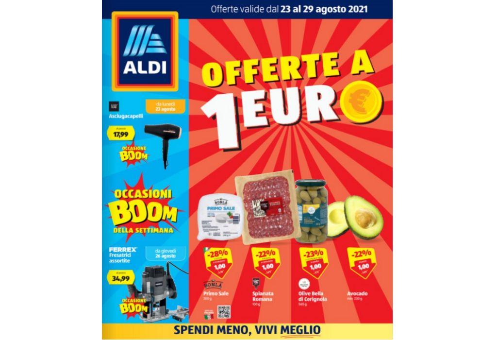 Volantino Aldi dal 23 al 29 agosto 2021: offerte a 1 euro, settimana Asiatica e Francese