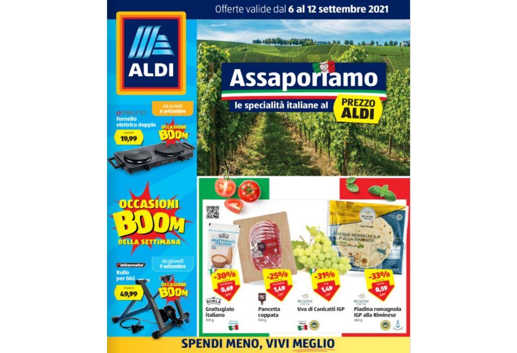 Volantino Aldi dal 6 al 12 settembre 2021: Assaporiamo le specialità italiane