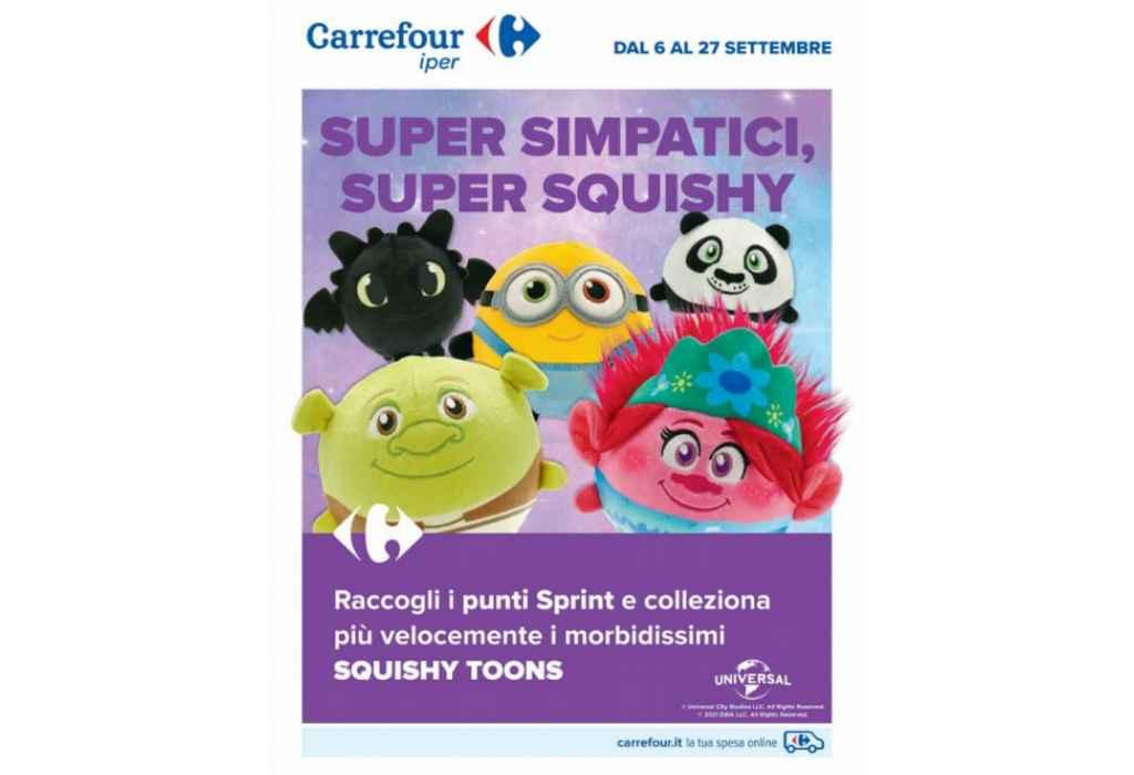 Carrefour raccolta punti Squishy Toons