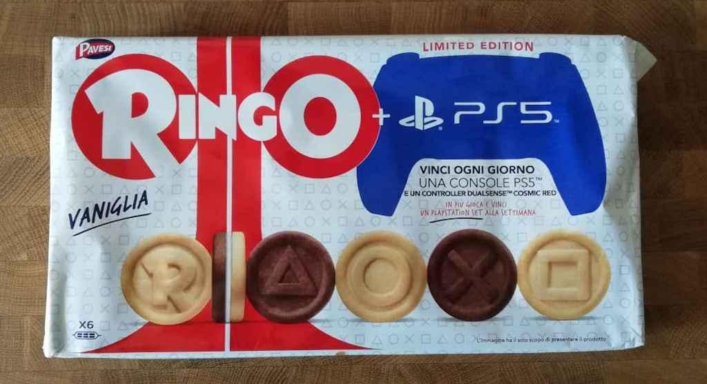 Prodotti Ringo in promozione per il concorso Playstation 5