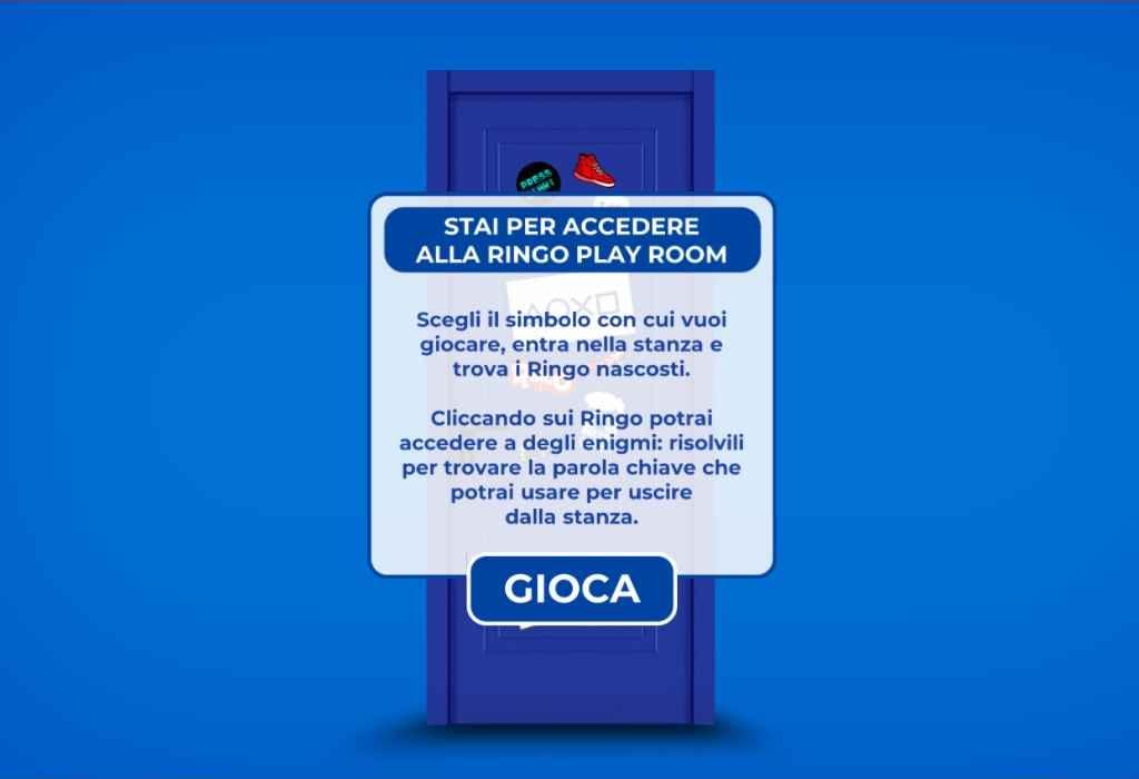 """Concorso Ringo PS5 2021, """"Scopri la limited edition e vinci"""": la Ringo Play Room"""