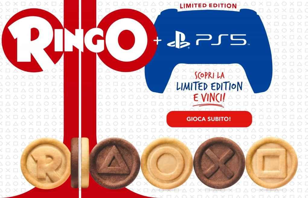 """Concorso Ringo PS5 2021, """"Scopri la limited edition e vinci"""""""