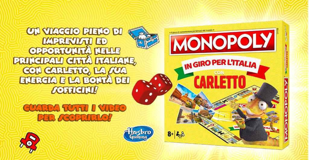 Concorso Sofficini 2021: vinci il Monopoli In giro per l'Italia con Carletto