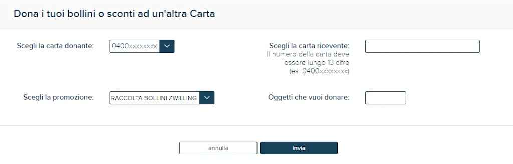Come donare i bollini online Esselunga