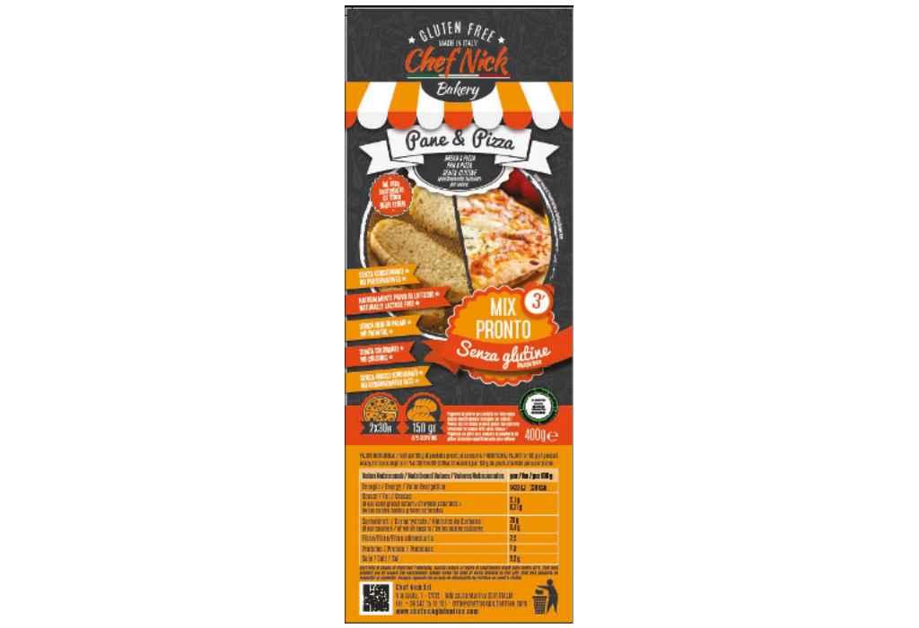 Richiamato preparato per pane e pizza gluten free Chef Nick per ossido di etilene nella farina di semi di carrube