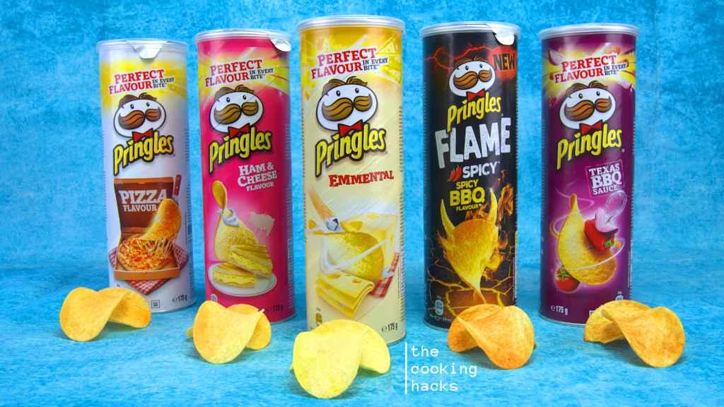 Pringles, i nuovi gusti Emmental, Texas BBQ Sauce, Ham & Cheese, Pizza, e Flame Spicy BBQ