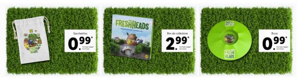 The Fresh Heads Lidl: sacchettino, box collezione e buca gioco