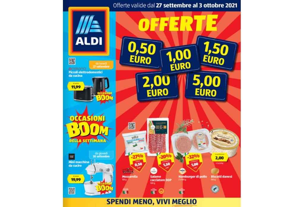Volantino Aldi dal 27 settembre al 3 ottobre 2021: Offerte da 0,50 € a 5 €