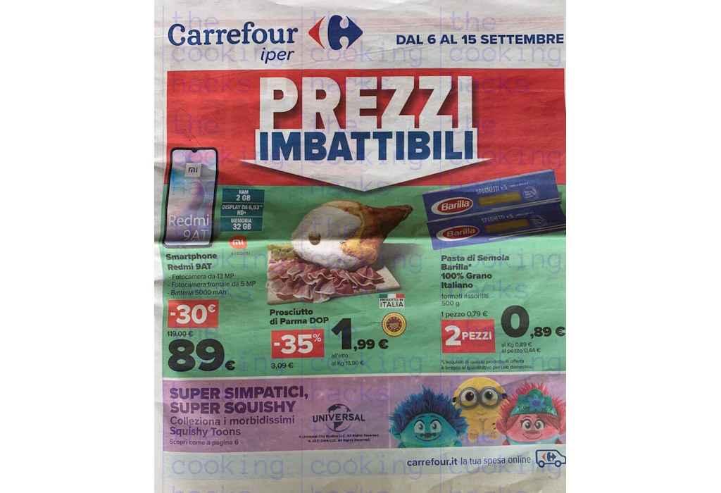 Volantino Carrefour dal 6 al 15 settembre 2021