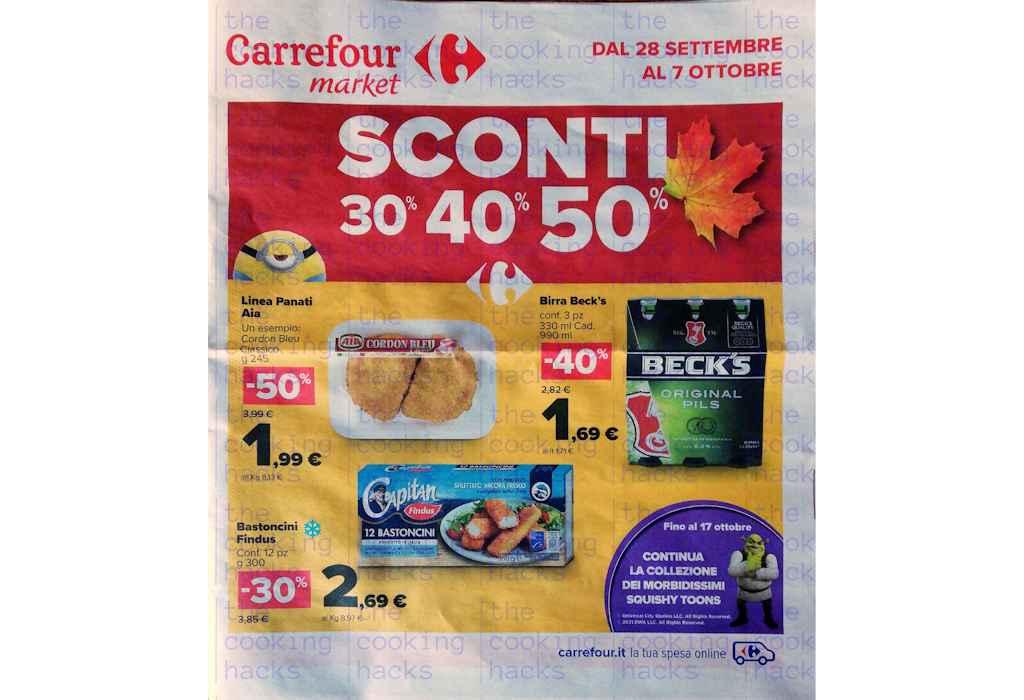 Volantino Carrefour Market dal 28 settembre al 7 ottobre 2021