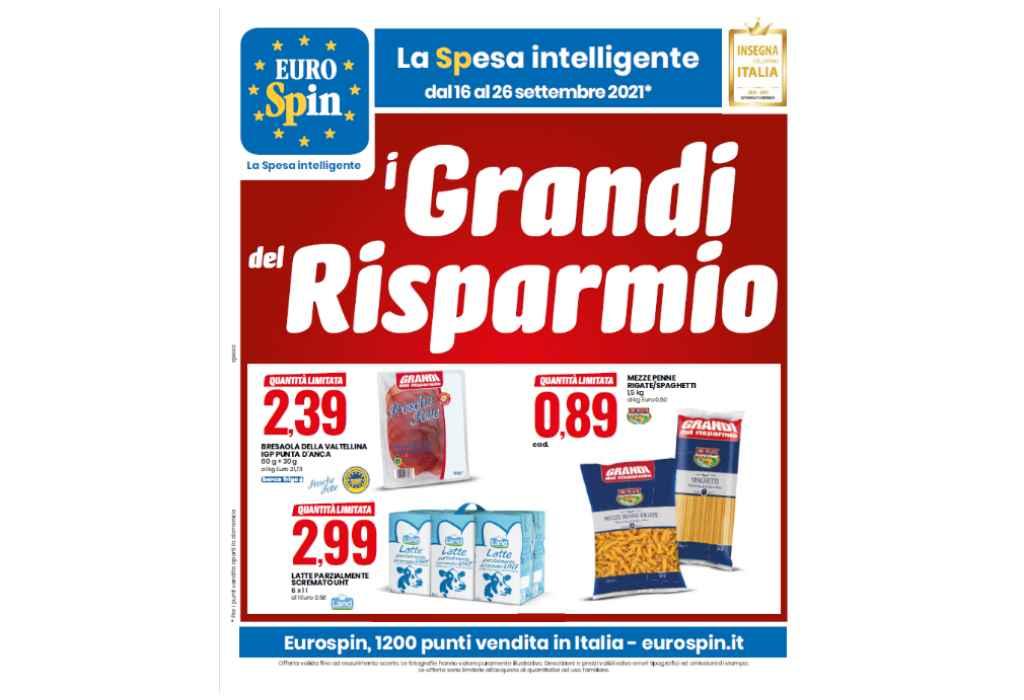 Volantino Eurospin dal 16 al 26 settembre 2021