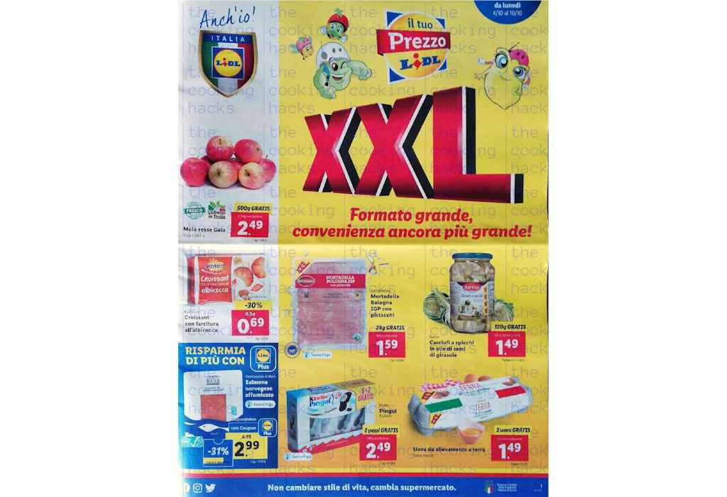 Volantino Lidl prossima settimana dal 4 al 10 ottobre 2021: offerte XXL