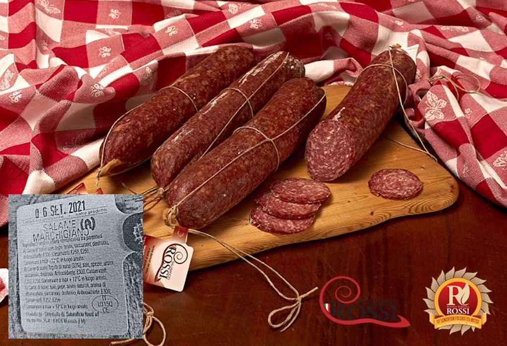 Richiamato salame marchigiano per presenza di Listeria