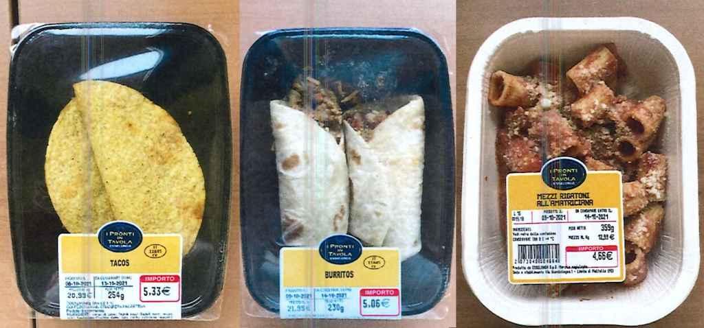Esselunga richiama Tacos, Burritos e Mezzi rigatoni all'amatriciana per sospetta presenza di frammenti di vetro