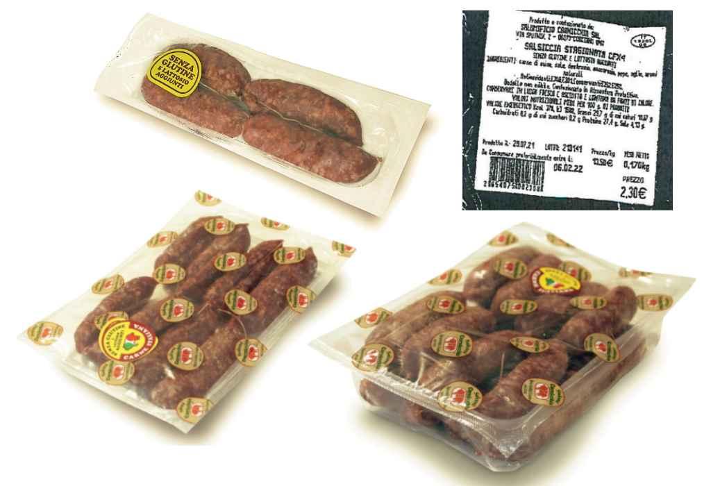 Richiamata salsiccia stagionata per presenza di salmonella