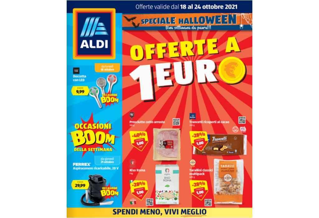 Volantino Aldi dal 18 al 24 ottobre 2021: offerte a 1 euro e speciale Halloween