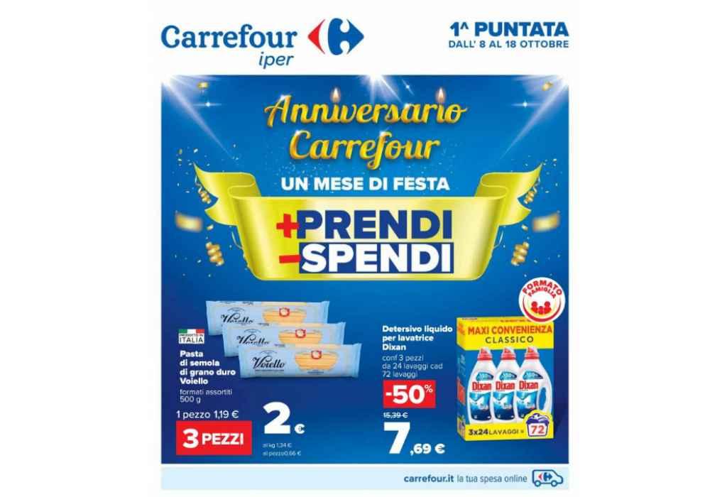 Volantino Carrefour Iper dal 8 al 18 ottobre 2021