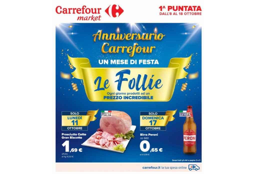 Volantino Carrefour Market dal 8 al 18 ottobre 2021