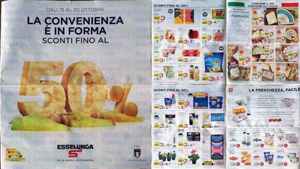 Volantino Esselunga dal 11 al 20 ottobre 2021:  offerte