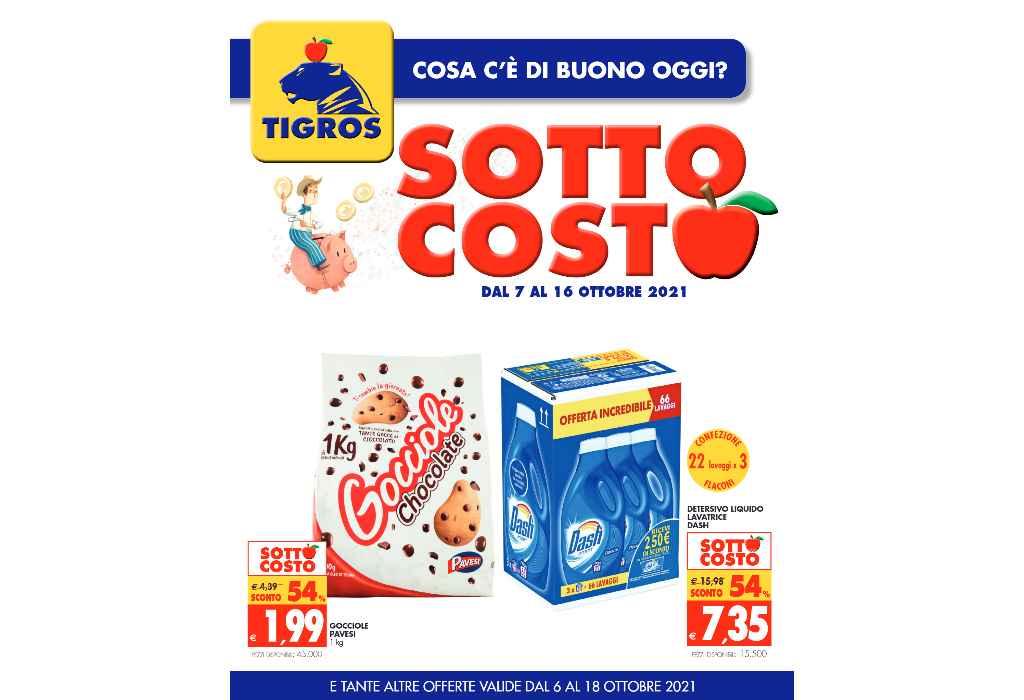 Volantino Tigros dal 7 al 16 ottobre 2021